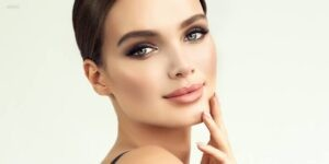 Model with Beautiful Smooth Facial Skin