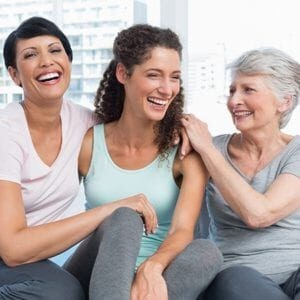 Healthy Woman Laughing Together