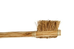 Toothbrush Made Out of Wooden Bristles