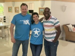 Dr. Gocke, Michella and Moises with there 5X tee shirts