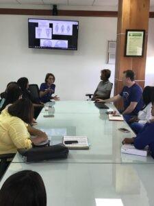 Dr. Gocke teaching a class about oral surgery